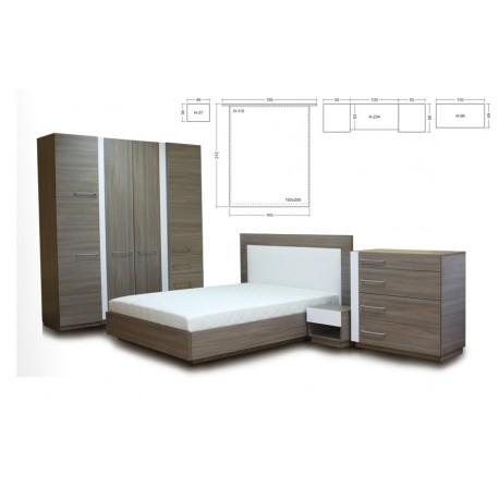 Miegamojo baldų komplektas Laura