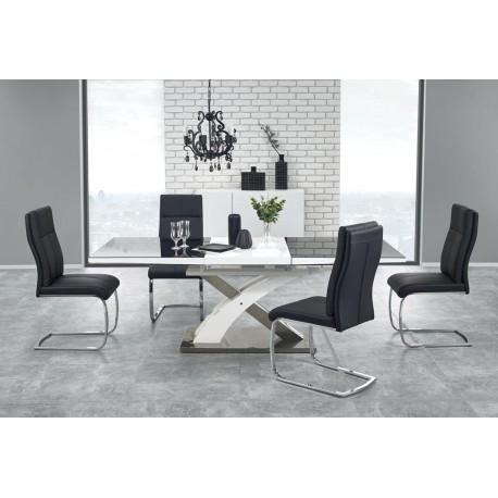Valgomojo stalas Sandor 2 juodas